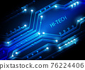 Circuit technology background with hi-tech digital 76224406