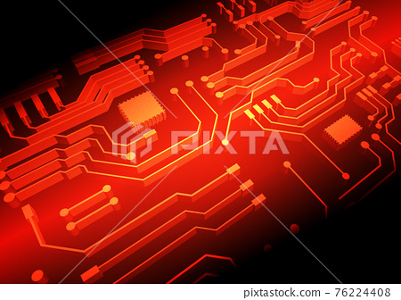 Circuit technology background with hi-tech digital 76224408