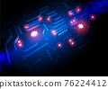 Circuit technology background with hi-tech digital 76224412