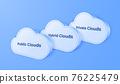 3D digital cloud computing technology background. Online service. vector art illustration 76225479