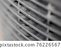Dusty car radiator grill pattern background in black and white 76226567