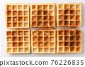 Belgian waffles texture isolated on white background 76226835