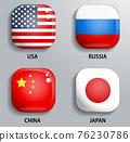 Language switch USA Russia China Japan 76230786