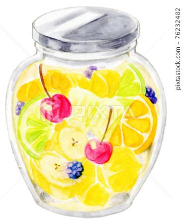水果 瓶裝的 熱水瓶 76232482