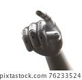 White robot hand finger point 76233524