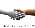 robot hand shake with human 76233879