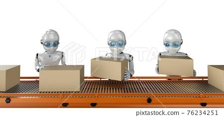 Robot in factory 76234251