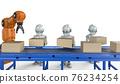 Robot in factory 76234254