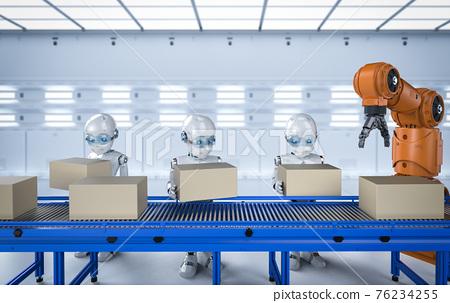 Robot in factory 76234255