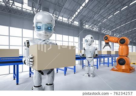 Robot in factory 76234257