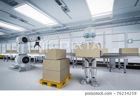Robot in factory 76234259