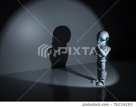 Thinker man robot 76234263