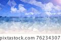 여름바다 폴리곤 배경 76234307
