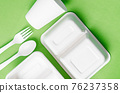 Eco friendly biodegradable paper disposable for packaging food. 76237358