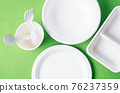 Eco friendly biodegradable paper disposable for packaging food and paper glass. 76237359