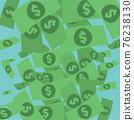 Flat Design Banknotes Background Business Concept Vector Illustration. 76238130