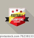 Football Champions Badge Logo Design Vector Illustration. 76238133