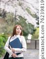 businesswoman, sakura, spring 76239819