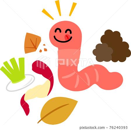 蚯蚓 吃 品嚐 76240393