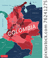 Columbia country detailed editable map 76241275