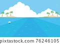 summer, blue water, marine 76246105