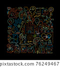 World autism awareness day. Colorful puzzle design. Symbol of autism. Sketch for your design 76249467