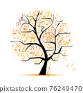 Music notes. Abstract musical tree for your design 76249470