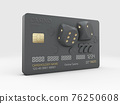 3d Illustration of Bank Card with Dice, clipping path included 76250608