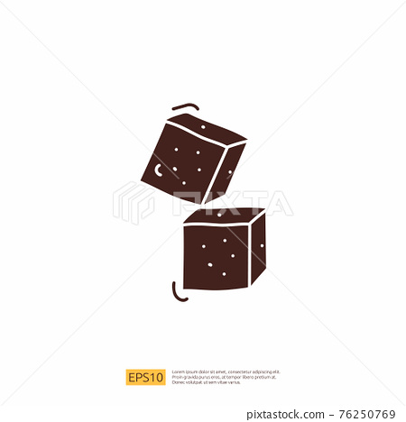 sugar bar for cafe concept vector illustration. hand drawing doodle silhouette glyph solid icon sign symbol 76250769