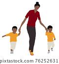 父母和小孩 親子 人 76252631