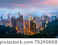Hong Kong, China city skyline from Victoria Peak 76260668