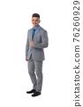 Portrait of business man in suit 76260929