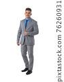 Portrait of business man in suit 76260931