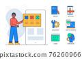 Web development - colorful flat design style poster 76260966