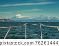 On boat near coast of Kamchatka 76261444