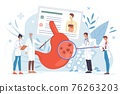 Flat cartoon doctor characters at work vector illustration concept 76263203