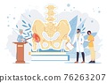 Flat cartoon doctor characters at work vector illustration concept 76263207