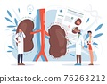 Flat cartoon doctor characters at work vector illustration concept 76263212