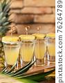 Tropical tequila shots 76264789