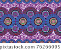 African Wax Print fabric, Ethnic handmade ornament for your design, Afro Ethnic sun flowers and tribal motifs pattern geometric elements. Vector texture, Africa seamless textile Ankara fashion style 76266095