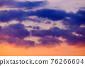 Dramatic sky with clouds closeup 76266694