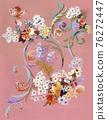 色彩豐富的花卉素材組合和設計元素 76272447