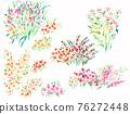 色彩豐富的花卉素材組合和設計元素 76272448