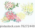 色彩豐富的花卉素材組合和設計元素 76272449