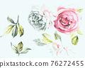 色彩豐富的花卉素材組合和設計元素 76272455