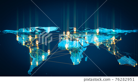 People network and global earth connection in innovative perception 76282951