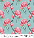 Peonies seamless floral pattern. Oriental style vintage flowers. 76283923
