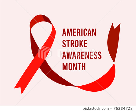 American stroke awareness month. Vector illustration 76284728