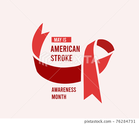 American stroke awareness month. Vector illustration 76284731