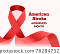 American stroke awareness month. Vector illustration 76284732